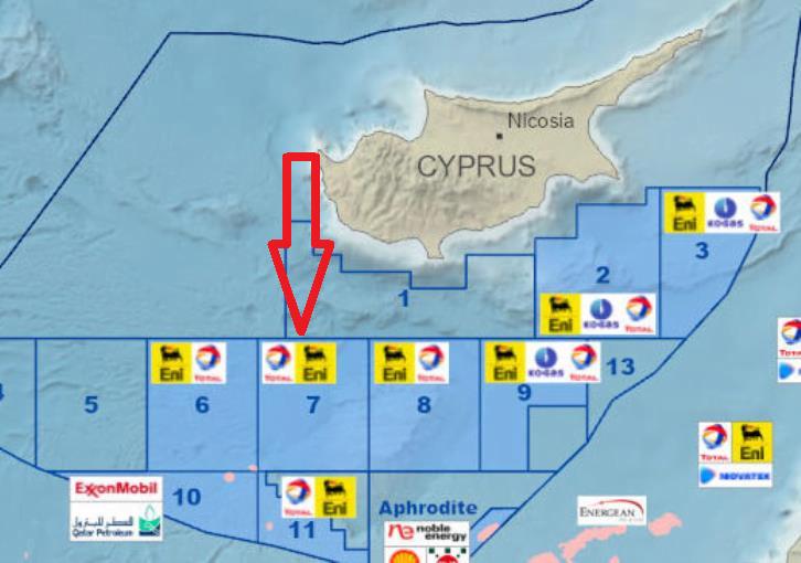 Κορυφώνει τις προκλήσεις η Τουρκία – Δεσμεύει το αδειοδοτημένο σε TOTAL-ENI Τεμάχιο 7 για γεωτρήσεις η Τουρκία (χάρτης)