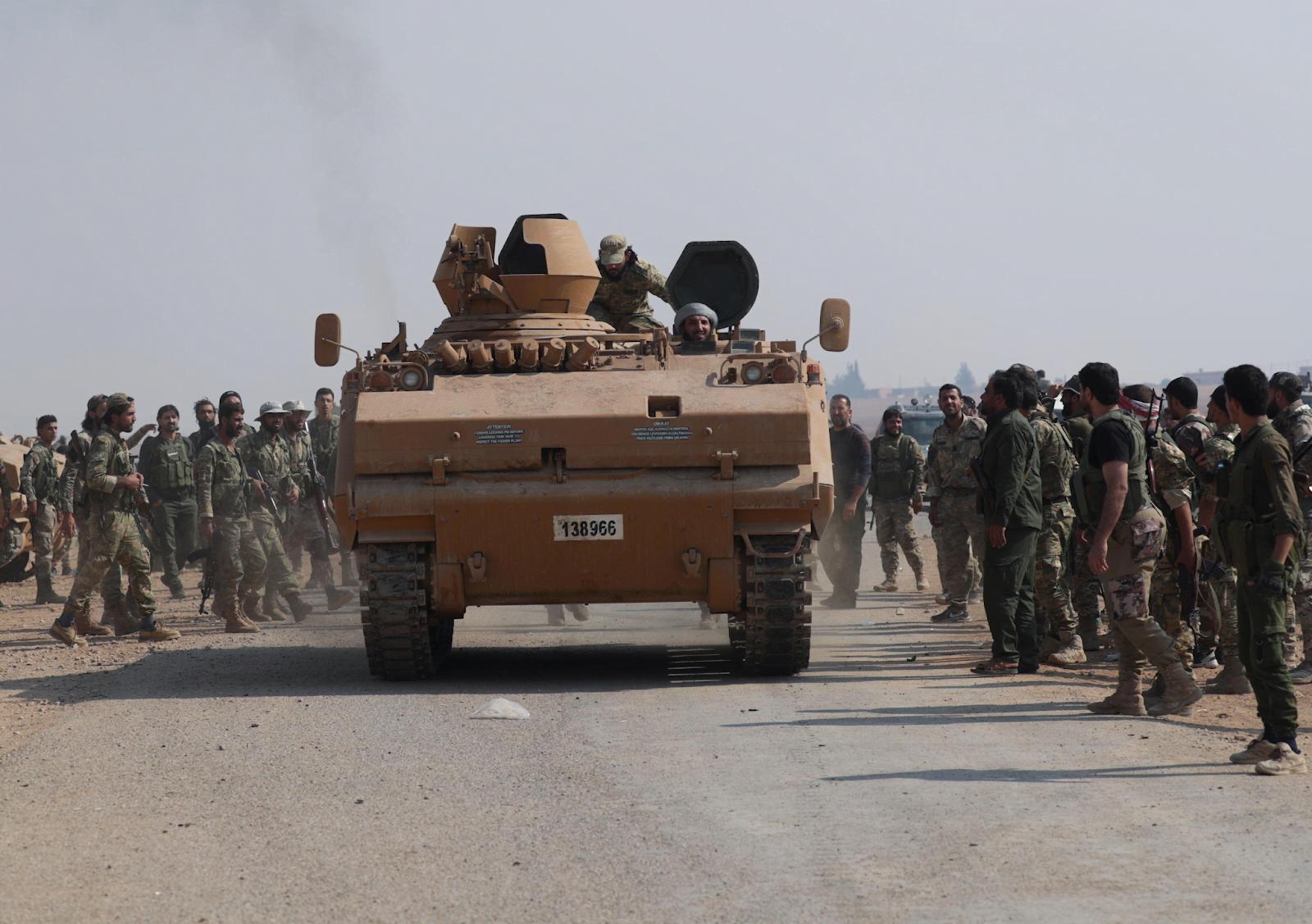 Τεθωρακισμένο της 1ης Στρατιάς, από την Αν. Θράκη, στην εισβολή στη Συρία