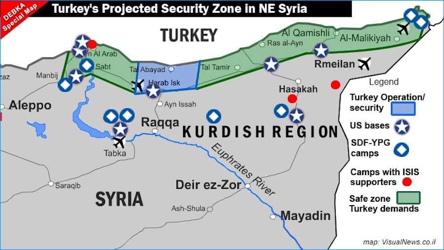"""Ο """"προφητικός"""" χάρτης της Μοσάντ για την τουρκική εισβολή και το διεθνές δικαστήριο για τον Ερντογάν"""