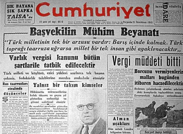 Varlik vergisi – Ο νόμος που θέσπισε η τουρκική βουλή για να εξοντώσει οικονομικά Έλληνες, Εβραίους και Αρμενίους