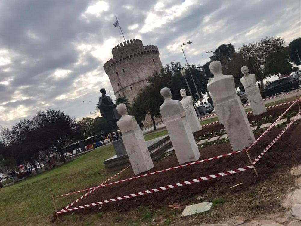 Τοποθετήθηκαν οι έξι προτομές των Μακεδονομάχων στη Θεσσαλονίκη