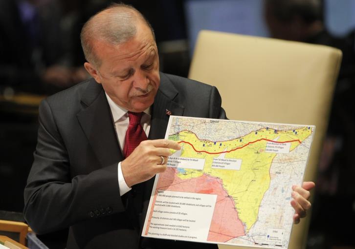 Ερντογάν: Παρουσιάζει ενώπιον Γκουτέρες το σχέδιό του για Συρία