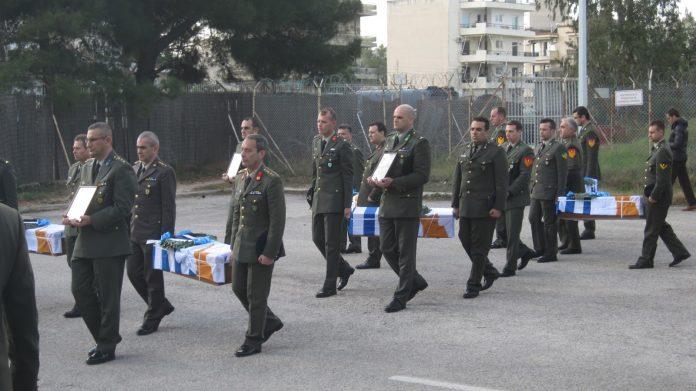 Παραδίδονται τα λείψανα έξι Ελλήνων πεσόντων και αγνοουμένων του 1974