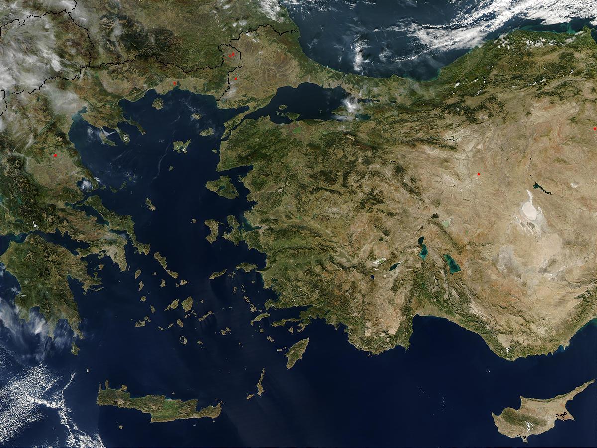 Aegean Satelite Map