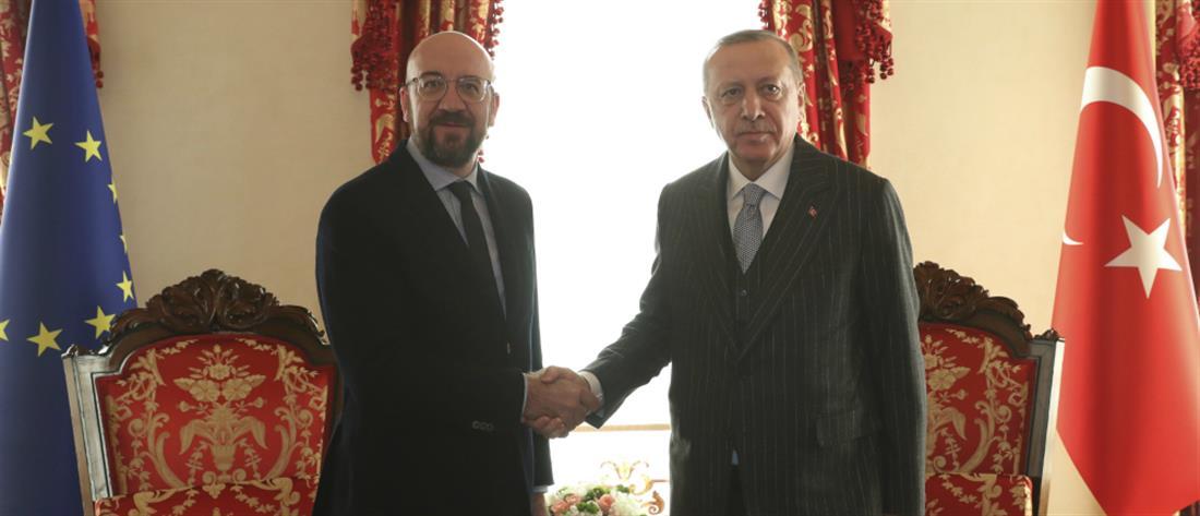 Πρόεδρος Ευρωπαϊκού Συμβουλίου σε Ερντογάν: Παράνομες οι γεωτρήσεις στην Κύπρο, ανησυχία για το μνημόνιο με Λιβύη