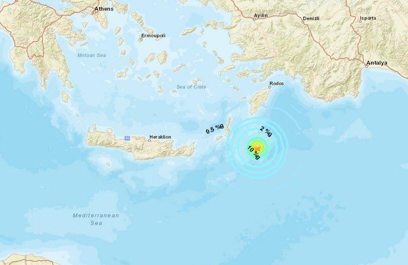 Σεισμός 5,1 Ρίχτερ αναστάτωσε τα ξημερώματα την Κάρπαθο
