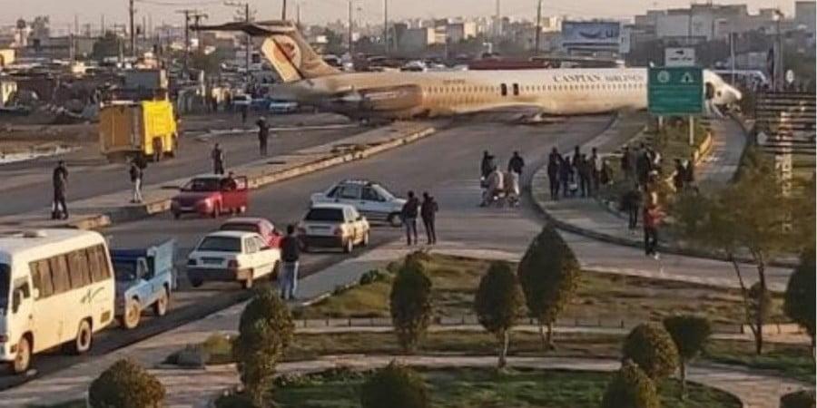 Τρόμος στο Ιράν: Αεροσκάφος βγήκε εκτός διαδρόμου προσγείωσης –Λαχτάρισαν 130 επιβάτες