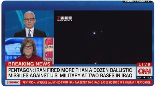 Επιθέσεις σε βάσεις των ΗΠΑ στο Ιράκ εξαπέλυσε το Ιράν σε αντίποινα για τον Σουλεϊμανί