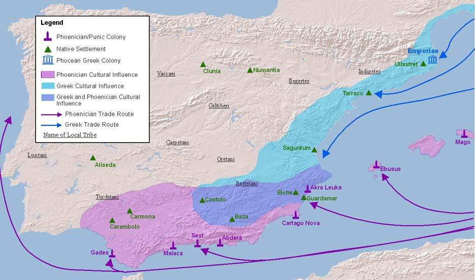 Οι αρχαίες Ελληνικές αποικίες στην Ισπανία