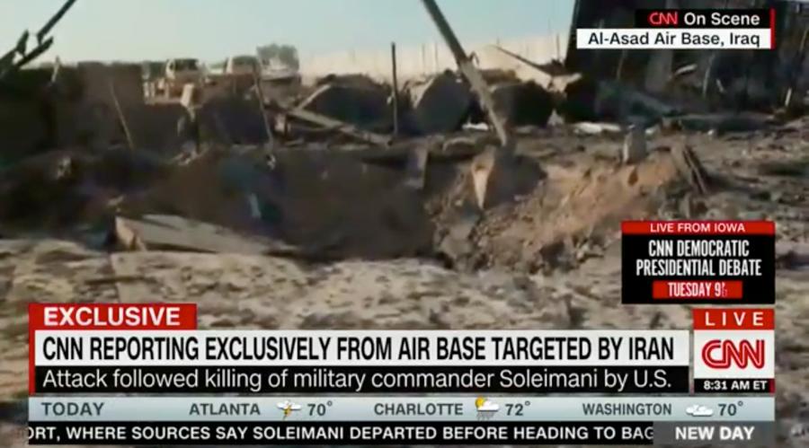 Εικόνες καταστροφής από την αμερικανική βάση που βομβάρδισε το Ιράν