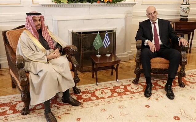 Ν. Δένδιας: Κοινή αντίληψη με τη Σ. Αραβία για τα μνημόνια Λιβύης – Τουρκίας