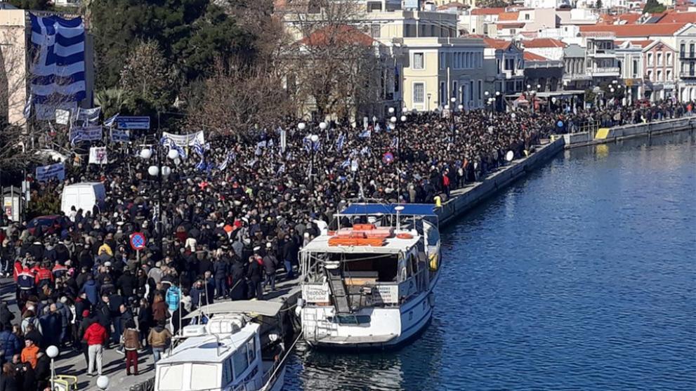 Στους δρόμους οι νησιώτες για το μεταναστευτικό! Λαοθάλασσα σε Μυτιλήνη , Χίο, Σάμο