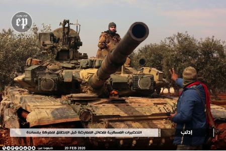 Τρομοκράτες χρησιμοποιούν υπερσύγχρονο άρμα μάχης T-90A του συριακού στρατού – Φωτογραφίες