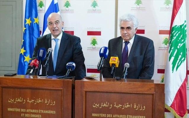 Ν. Δένδιας από Βηρυτό: Πρωταρχικής σημασίας η παύση των εχθροπραξιών στη Λιβύη