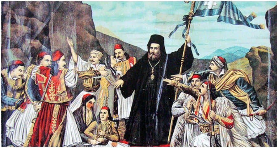Η Διακήρυξη του Παλαιών Πατρών Γερμανού, που αμφισβητούν ελληνόφωνοι εθνομηδενιστές, δημοσιεύθηκε το 1821 σε γαλλική εφημερίδα