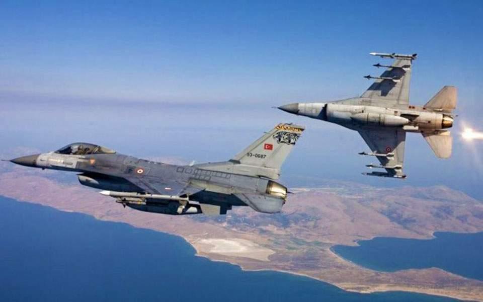 Τον… αμανέ τους οι Τούρκοι… Ζεύγη τουρκικών F-16 πέταξαν πάνω από Χίο, Ανθρωποφάγους και Μακρονήσι