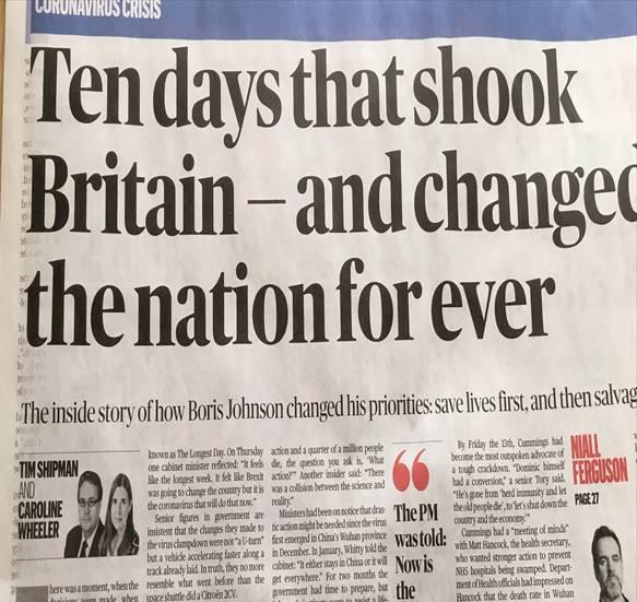 Η πορεία καταστροφής του Boris Johnson εις βάρος της κοινωνίας