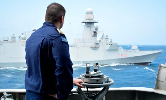 Συνεκπαίδευση Μονάδων Πολεμικού Ναυτικού Ελλάδας – SNMG2 δυτικά της Κρήτης