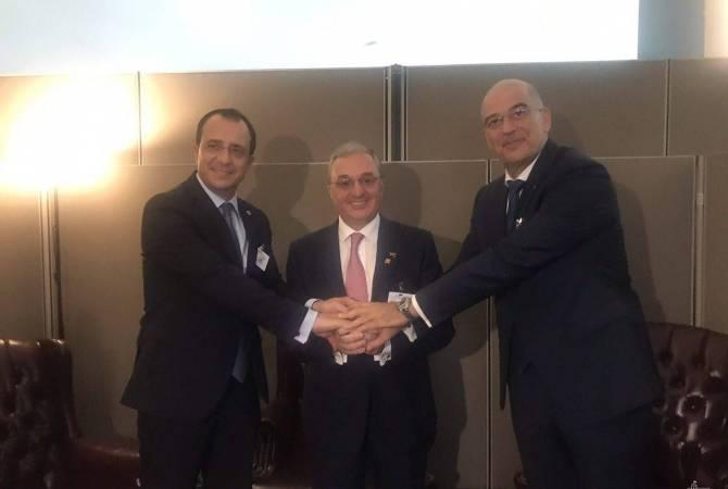 Τηλεφωνική επικοινωνία των ΥΠΕΞ της Αρμενίας-Ελλάδας- Κύπρου
