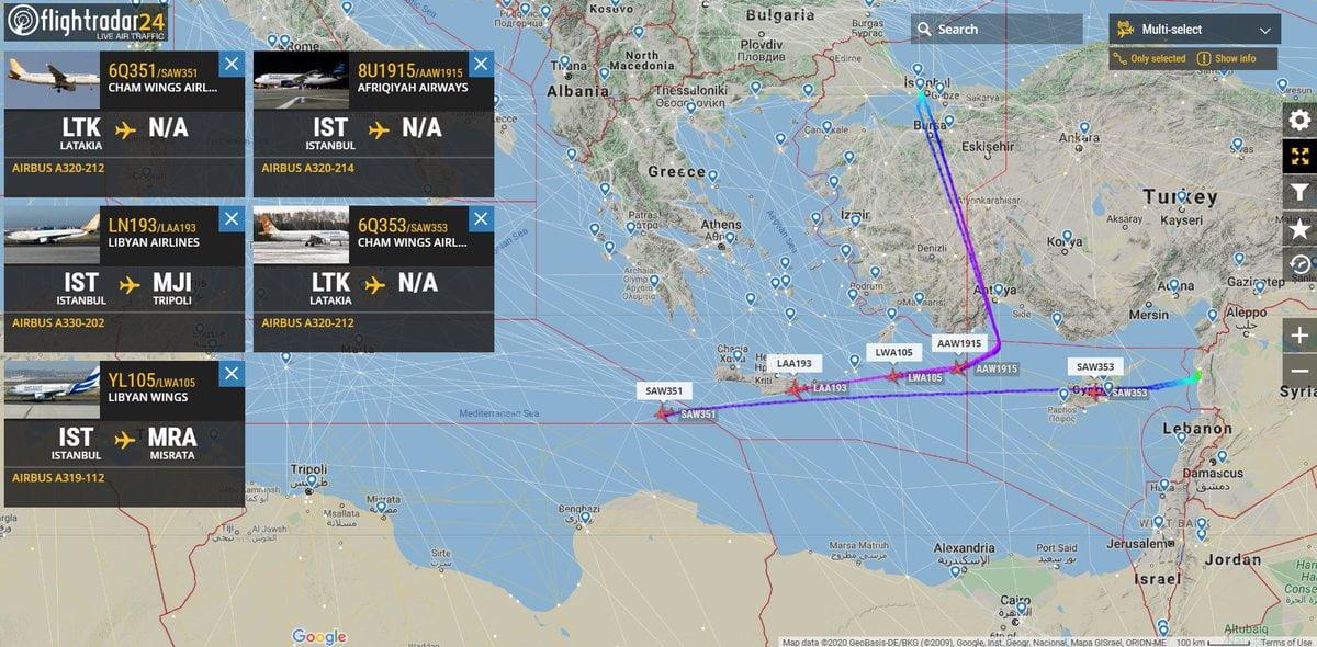 Πυκνώνουν οι αεροπορικές πτήσεις για Λιβύη – Τρεις από Τουρκία και δύο από Συρία