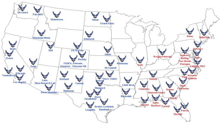 Αναβαθμίσεις σε αεροπορικές βάσεις των ΗΠΑ