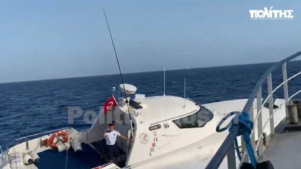 Βίντεο-ντοκουμέντο: Ακραία πρόκληση στο Αιγαίο – Τούρκοι παρενοχλούν Έλληνες ψαράδες στις Οινούσσες
