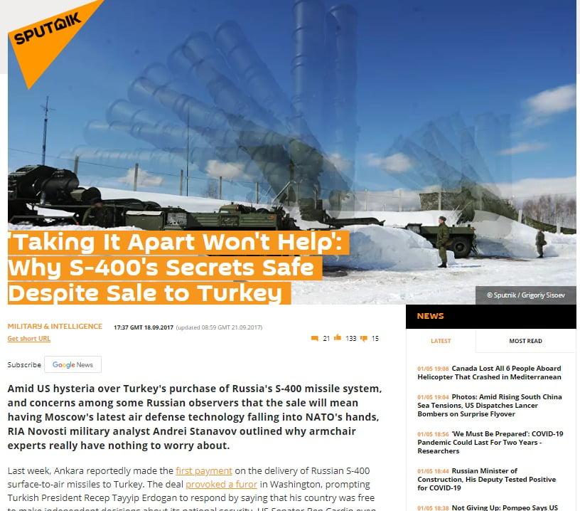 Κοφινάκος (StormHarbour): Πουλάει η Τουρκία τους ρωσικούς S-400 στις ΗΠΑ; Tι θα σημάνει για την Ελλάδα