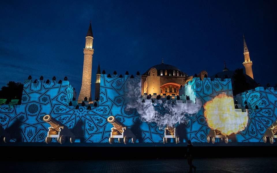 «Φιέστα» Ερντογάν για την Αλωση: Διαβάστηκε το Κοράνι στην Αγία Σοφία – Εντονη αντίδραση Αθήνας