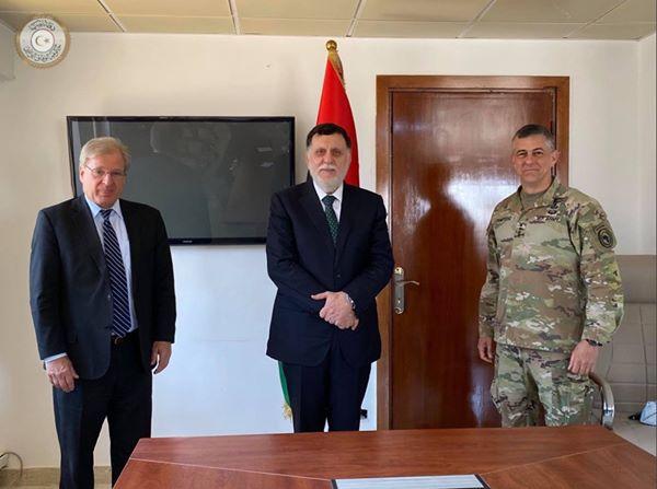 H Διοίκηση των Ηνωμένων Πολιτειών στην Αφρική (USAFRICOM) μετέβη στην Λιβύη για συνομιλίες με τον Sarraj