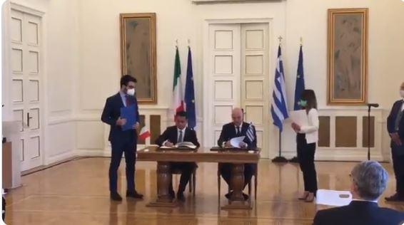 Έπεσαν οι υπογραφές για ΑΟΖ με Ιταλία – Κύρωση από τη βουλή και των δύο χωρών το ταχύτερο δυνατόν