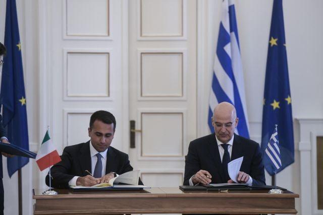 Ιστορική συμφωνία: Κοινή ΑΟΖ Ελλάδας – Ιταλίας