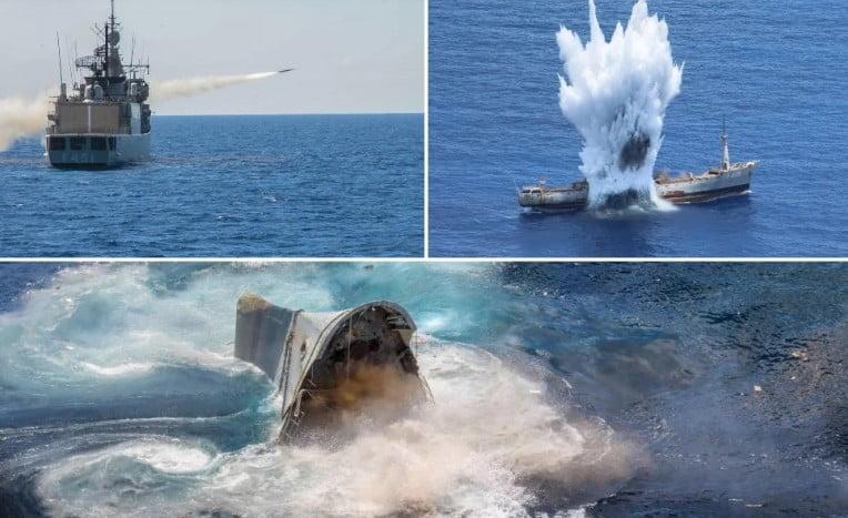 Μήνυμα στην Άγκυρα: Εντυπωσιακή προβολή ισχύος με κατευθυνόμενα βλήματα και τορπίλες -Στο βυθό της Ανατολικής Μεσογείου το πλοίο-στόχος