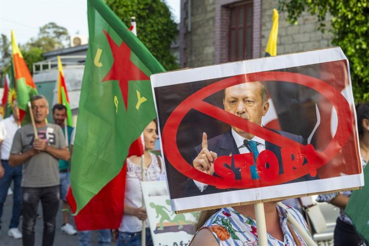 Λεμεσός: Πορεία Κούρδων κατά των τουρκικών επιδρομών (εικόνες)