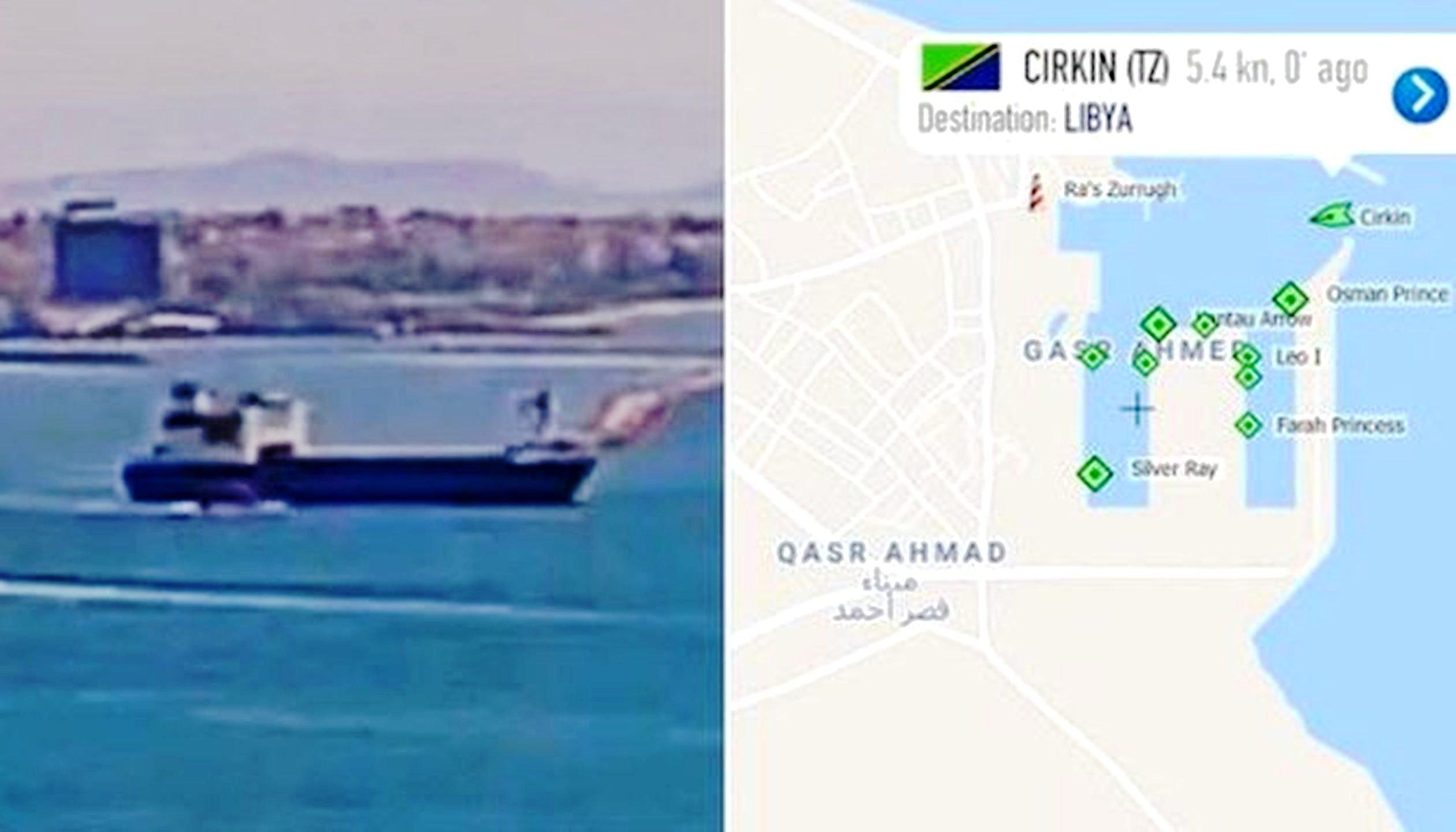 Το «Cirkin» που μεταφέρει όπλα από την Τουρκία στη Λιβύη «έδεσε» στη Μισράτα