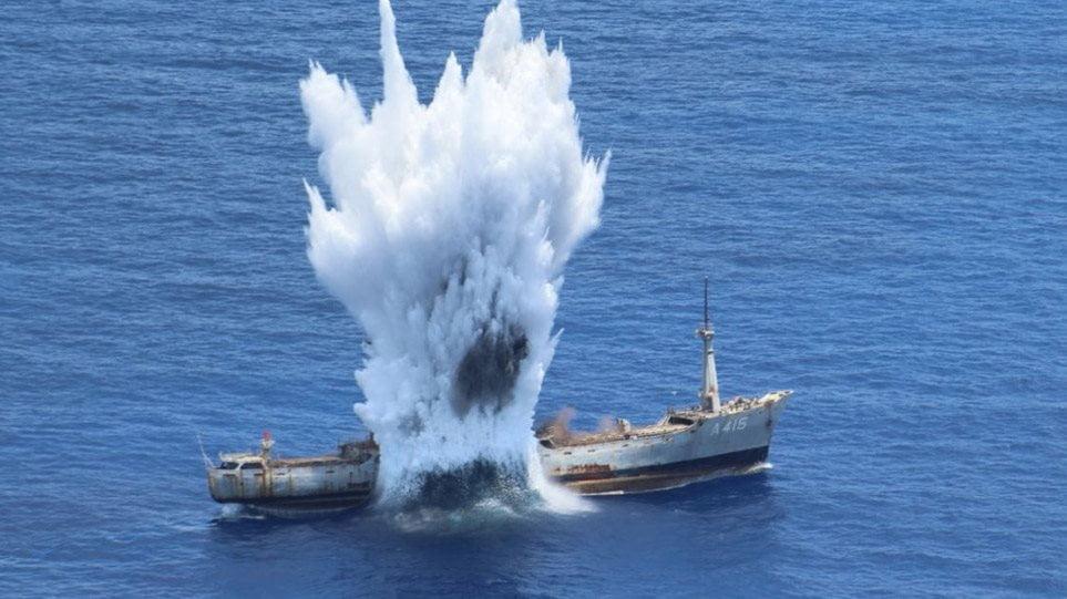 Πολεμικό Ναυτικό-Πολεμική Αεροπορία: Εντυπωσιακά βίντεο από άσκηση με πραγματικά πυρά νότια της Καρπάθου