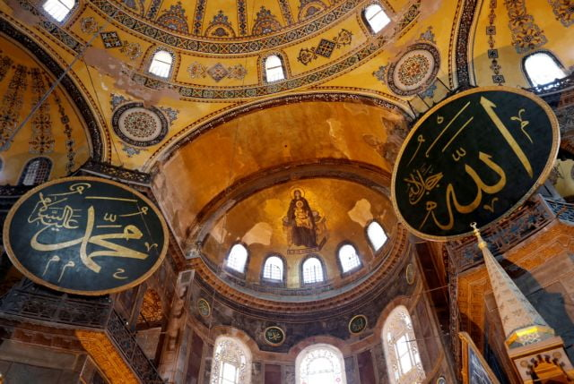 Αγία Σοφία: Έτσι θα καλυφθούν τα ψηφιδωτά για τη μουσουλμανική προσευχή