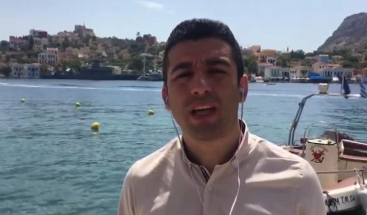 Βίντεο: Τούρκος δημοσιογράφος κατασκοπεύει στο Καστελόριζο!