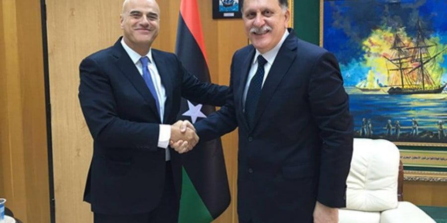 Συνάντηση Σαράζ με CEO της ιταλικής ΕΝΙ στην Τρίπολη