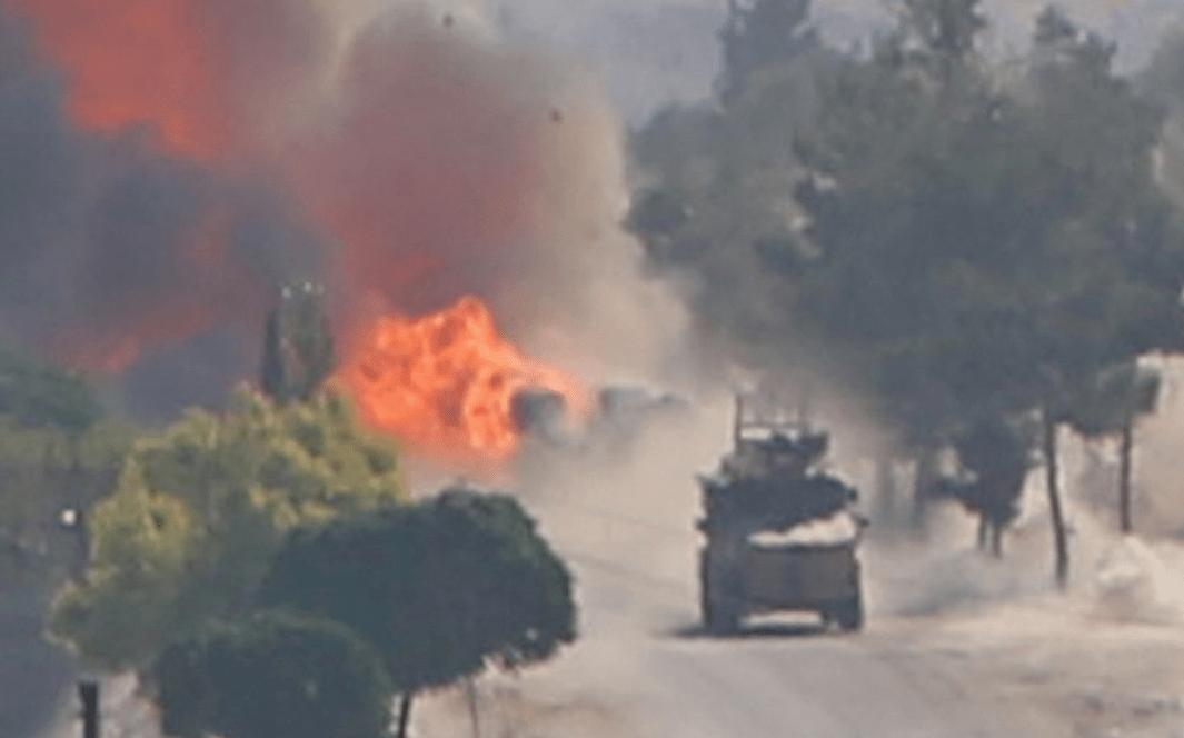 Ισχυρή έκρηξη σε κοινή φάλαγγα περιπόλου Ρωσίας – Τουρκίας στο Ιντλίμπ (βίντεο-φώτο)