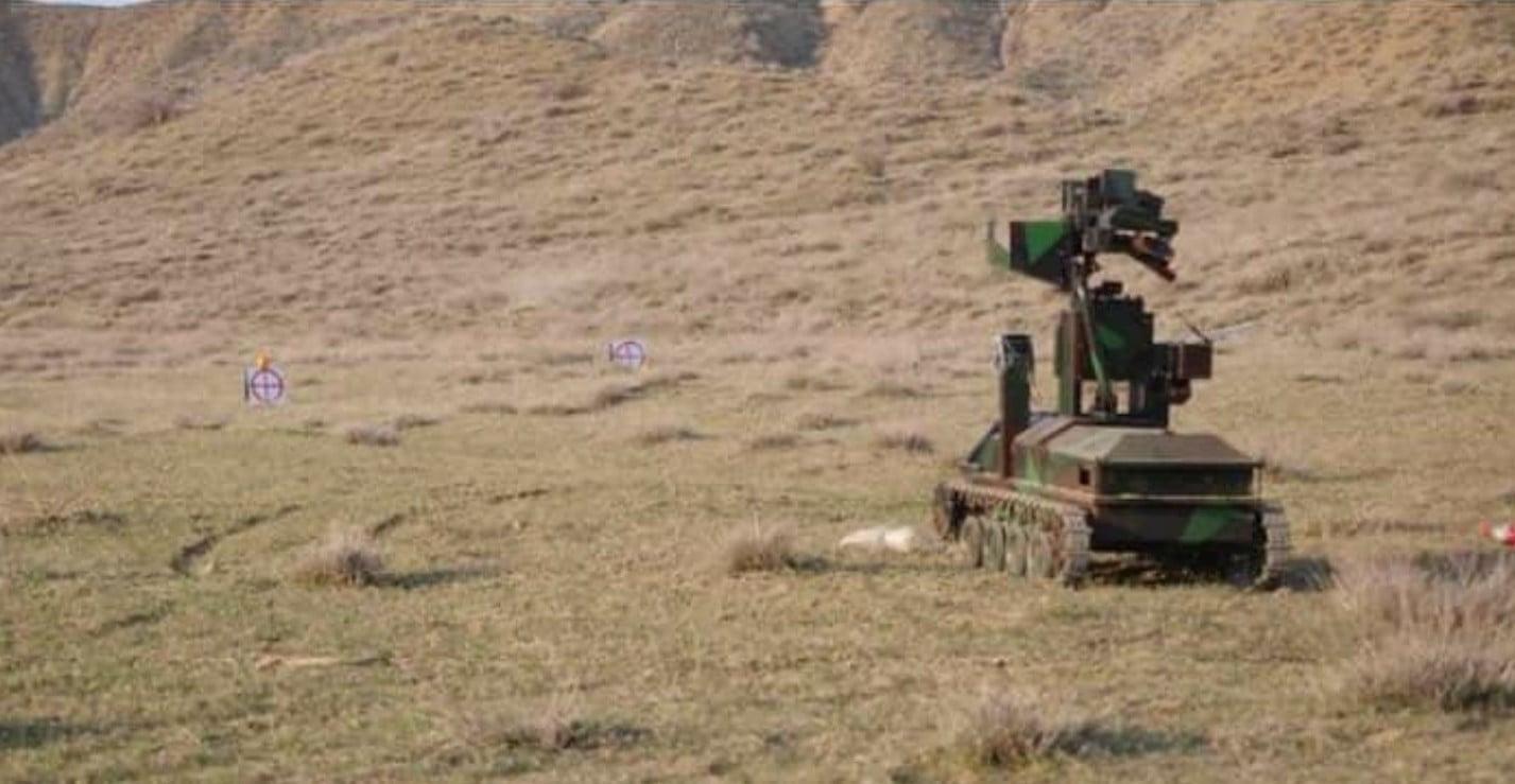 Δοκιμάστηκαν οι ικανότητες του στρατιωτικού ρομπότ Αρμενικής κατασκευής