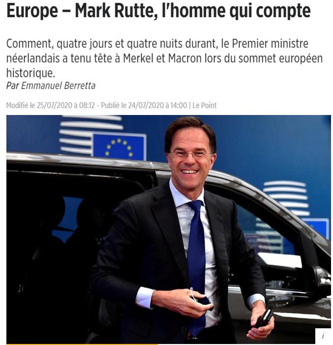 Mark Rutte, ο νέος ισχυρός άνδρας της Ε.Ε