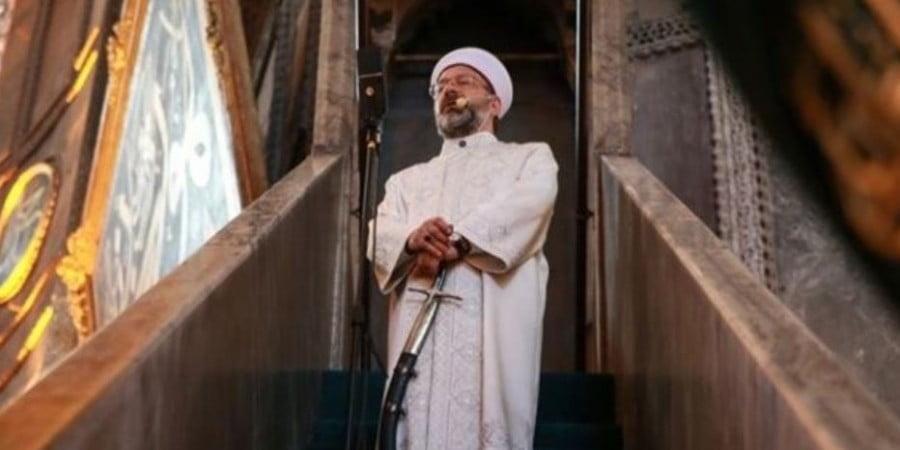 Προσγειωθείτε οι εκζητούντες τον διάλογον… Πάλι με οθωμανικό γιαταγάνι ο Αλί Ερμπάς στην Αγία Σοφία