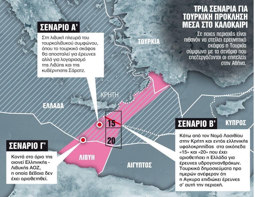 «Φρένο» στην τουρκική πειρατεία βάζει η Ελλάδα – Παραχωρεί προς έρευνα θαλάσσιο οικόπεδο νότια του Λασιθίου