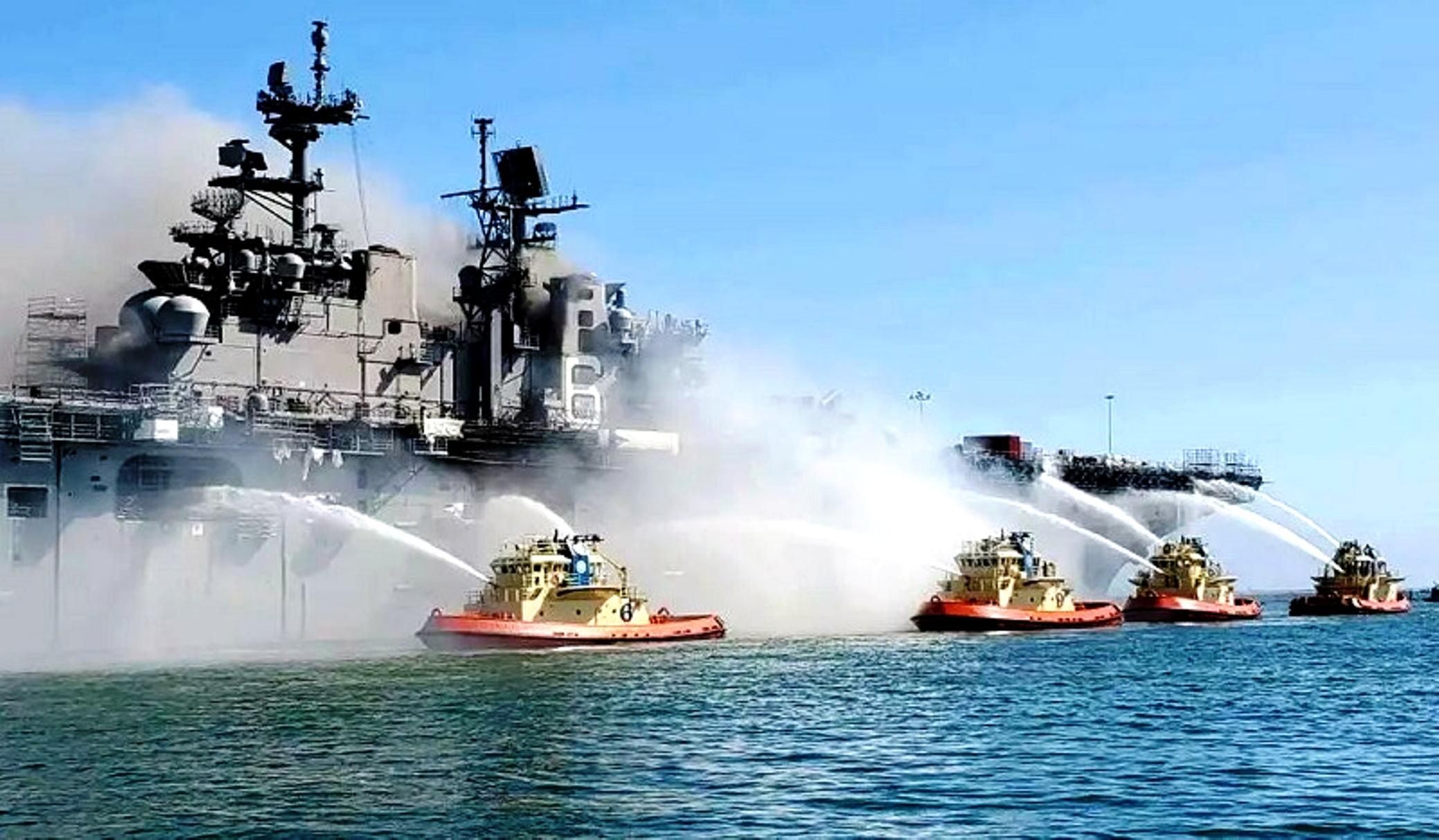 ΗΠΑ: Πλήρη συσκότιση για την αιτία της έκρηξης στο USS Bonhomme Richard