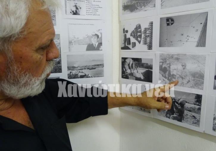 Από τα Χανιά στην Κύπρο το 1974, ως λοχίας στην 173η μοίρα πυροβολικού της Εθνικής Φρουράς