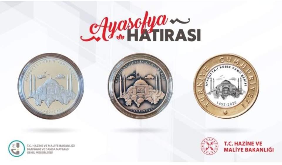 Και συλλεκτικά νομίσματα για την Αγία Σοφία έκοψε η Αγκυρα