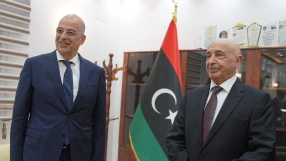 Δένδιας: Συζήτησα με τον πρόεδρο της Λιβυκής βουλής για θαλάσσιες ζώνες μεταξύ Ελλάδας – Λιβύης