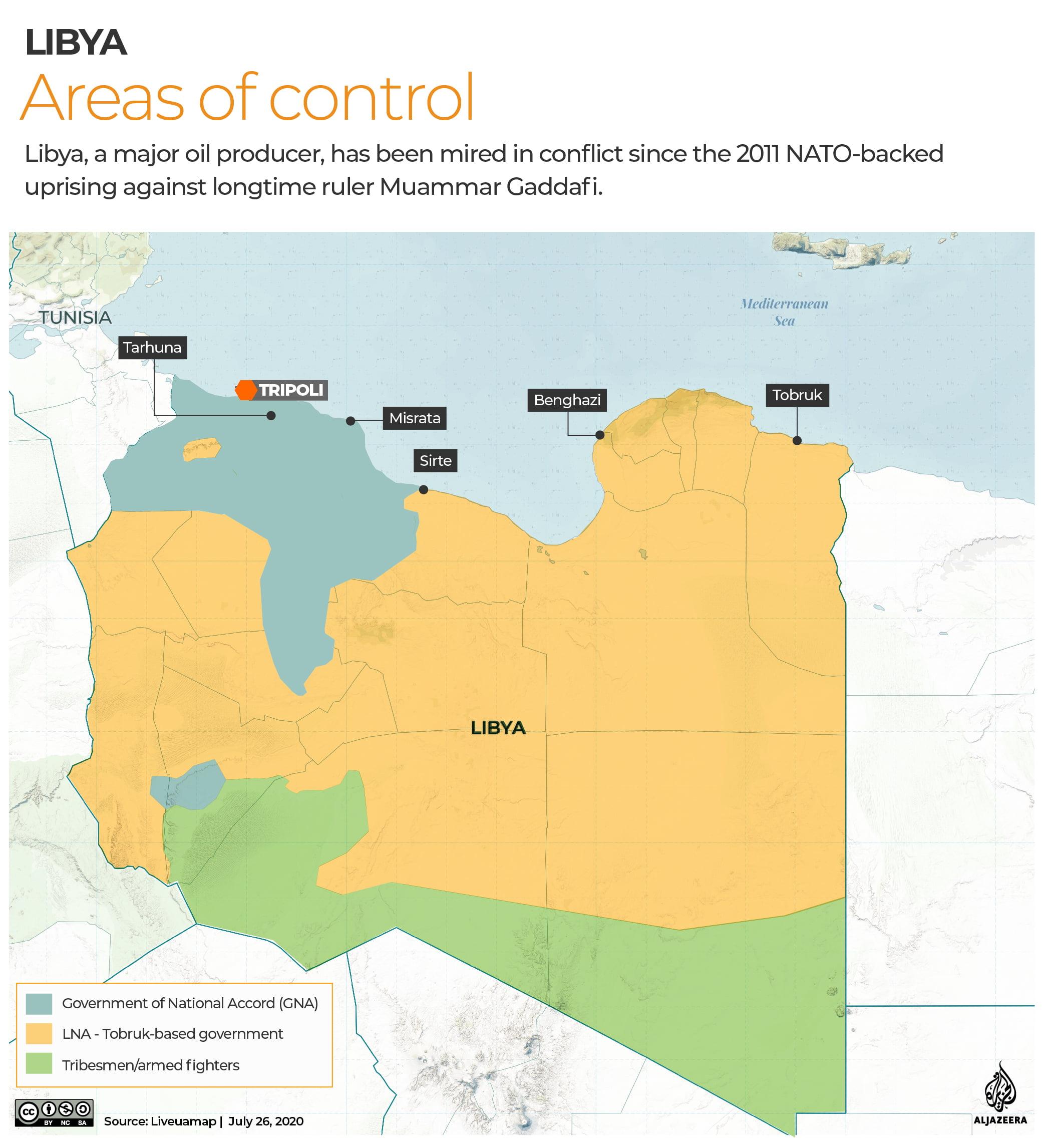 Ποιος ελέγχει τι στη Λιβύη – Η σημασία της Σύρτης (χάρτες)