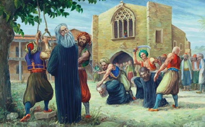 Στις 9 Ιουλίου του 1821 ΑΠΑΓΧΟΝΙΖΕΤΑΙ ο Αρχιεπίσκοπος Κύπρου Κυπριανός λόγω της δράσης του