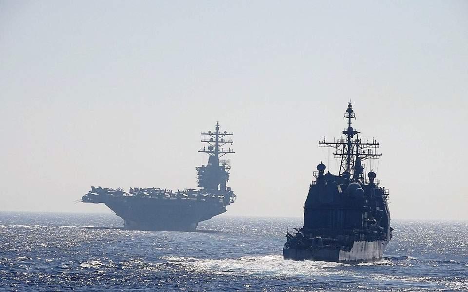 Η κοινή άσκηση του «Αϊζενχάουερ» με δυνάμεις του Πολεμικού Ναυτικού (φωτογραφίες)